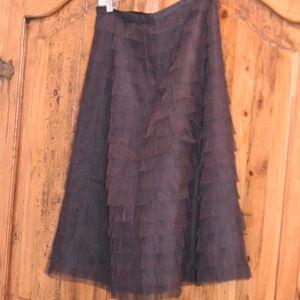 Tule A line knee length skirt by BCBG